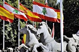 العلم اللبناني ضيف الشرف في العرض العسكري الرسمي في مدريد بمناسبة العيد الوطني الإسباني